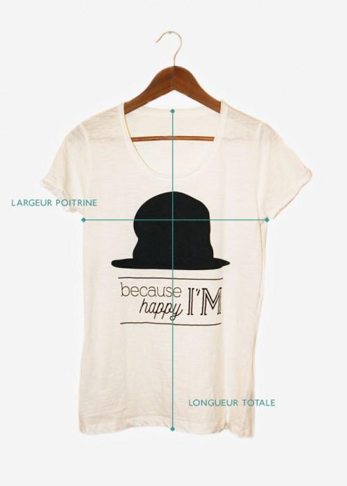 guide des tailles pour les t-shirts femmes