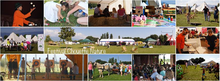 vignettes d'images présentant l'association Chouette Nature