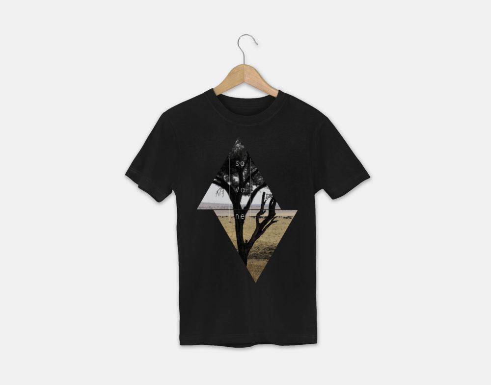 t-shirt avec le visuel savane de la collection tanzanie