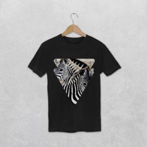 t-shirt avec le visuel zèbre de la collection tanzanie