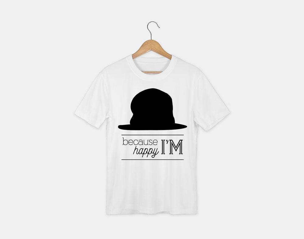 t-shirt avec le visuel because I'm happy de la collection lyrics
