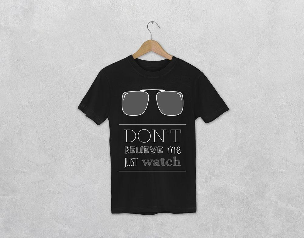 t-shirt avec le visuel don't believe me just watch de la collection lyrics